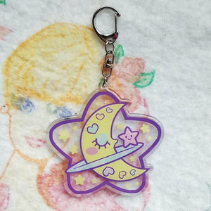 Precious Bbyz Sleepy Moon Kawaii Key Chain by Precious Bbyz