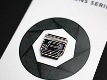 Load image into Gallery viewer, Camera lens pin - 50mm lens pin - Camera enamel pin