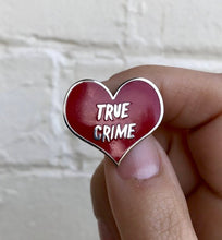 Load image into Gallery viewer, NEW Hard Enamel Lapel Pin or Hat Pin - True Crime
