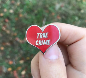 NEW Hard Enamel Lapel Pin or Hat Pin - True Crime