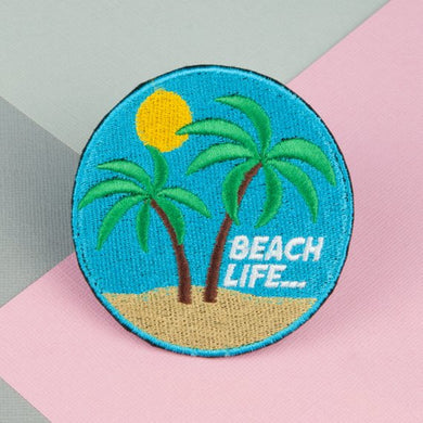 Beach life iron on patch