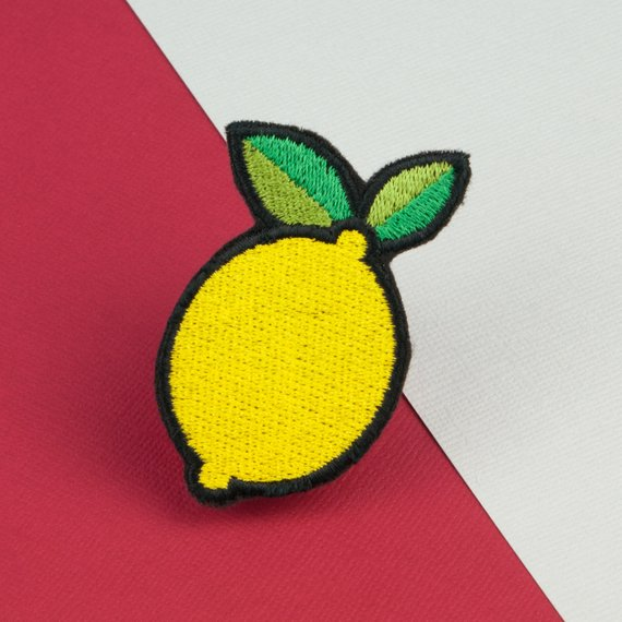 Lemon iron on patch