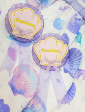 Load image into Gallery viewer, Kawaii Sea Shell Fabric Rosette | Summery Lolita Fashion/Fairy Kei Inspired Brooch by Precious Bbyz
