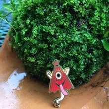 Load image into Gallery viewer, KASA OBAKE yokai enamel pin