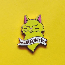 Load image into Gallery viewer, naMEOWste Enamel Pin Badge