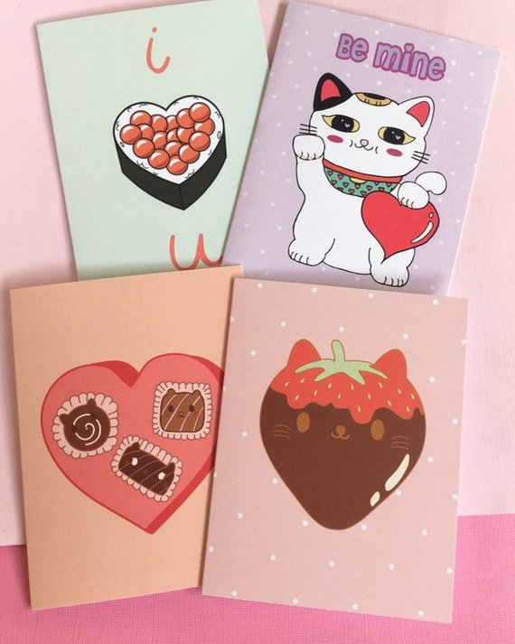 Kawaii Love Cards