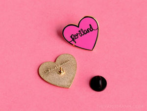 I Heart Portland - Heart Enamel Lapel Pin - Button