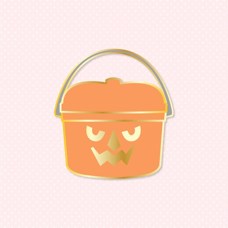 Pumpkin Bucket Halloween Happy Meal Enamel Pin
