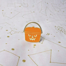 Load image into Gallery viewer, Pumpkin Bucket Halloween Happy Meal Enamel Pin