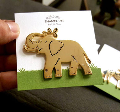 Elephant enamel pin - Wildlife series