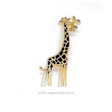 Giraffe enamel pin - Wildlife series