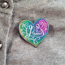 Load image into Gallery viewer, Love - Rainbow Enamel Pin