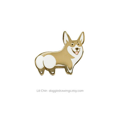Corgi - dog pin