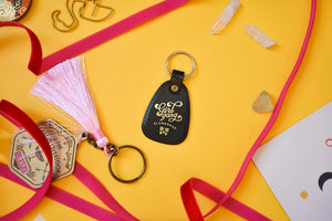 Girl Gang Clubhouse Retro Style Keychain