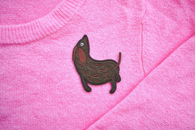 Wiener Dog Iron on Patch