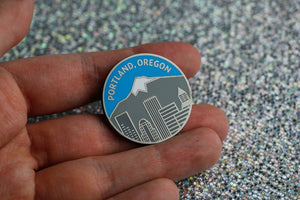 Portland Oregon Enamel pin