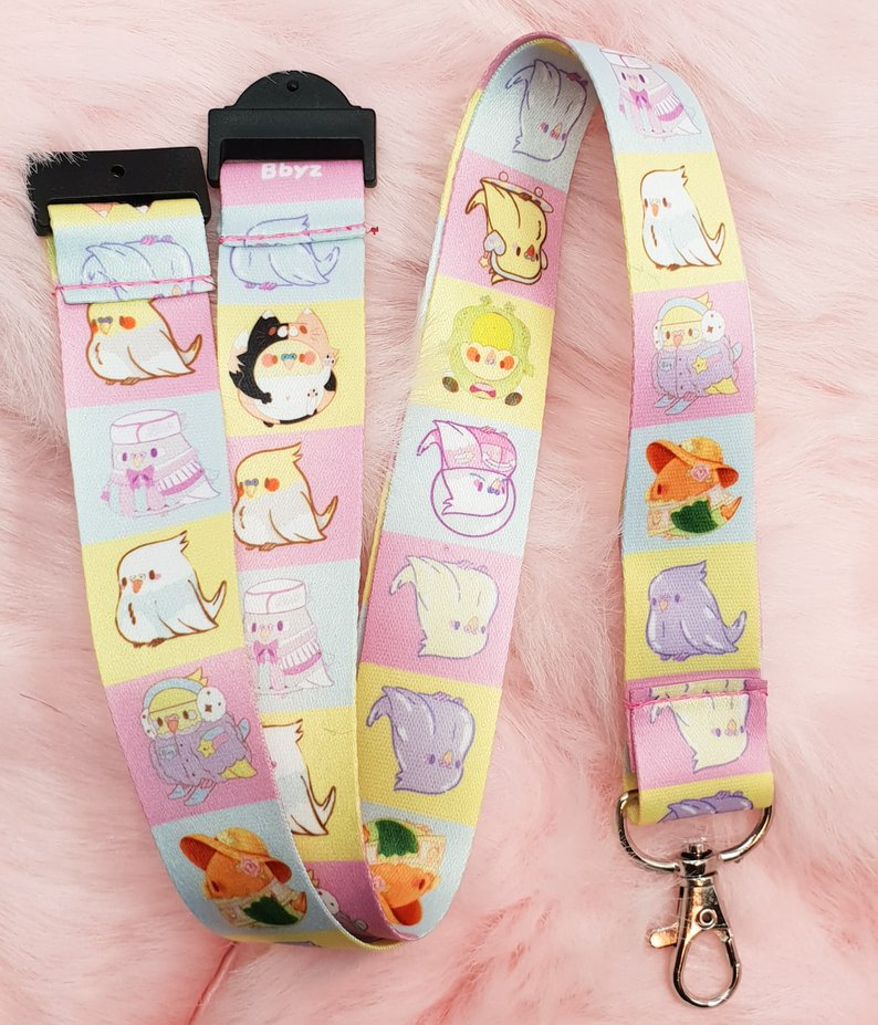 Birb Party Thick Lanyard