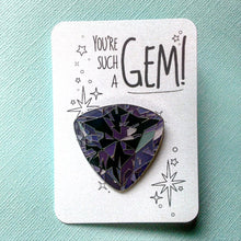 Load image into Gallery viewer, Amethyst Enamel Pin / Brooch