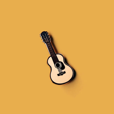 Acoustic Guitar Enamel Pin - Rose Gold