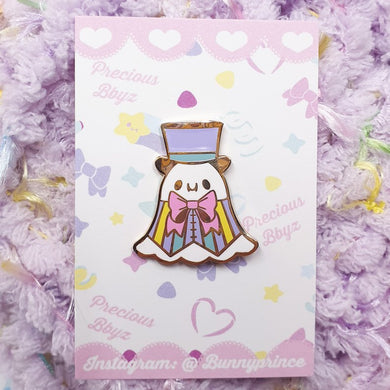 Pastel Dapper Ghost Hard Enamel Pin