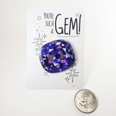 Tanzanite Enamel Pin / Brooch