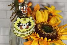 Load image into Gallery viewer, Angry Red Panda Macaron Acrylic Keychain
