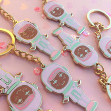 Load image into Gallery viewer, Pastel Polly Pocket Cadet Gold Enamel Keychains