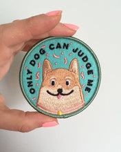 Load image into Gallery viewer, Only Dog Can Judge Me funny corgi iron on patch