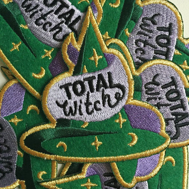 Total Witch Iron On Patch