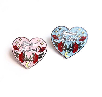 Glitter Mystical as Fu*k Heart Pin