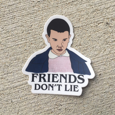 Stanger Things Eleven Vinyl Sticker