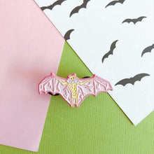 Load image into Gallery viewer, Pink Bat Enamel Pin