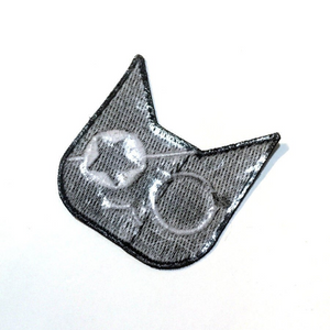 Glow Pirate Cat Patch - Sticker or Iron On!