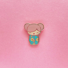 Load image into Gallery viewer, KAWAII KOKESHI DOLL LAPEL PIN