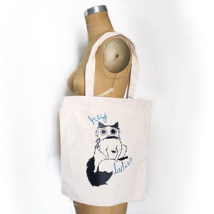 Hey Ladies Cat Tote Bag