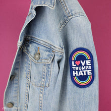 Load image into Gallery viewer, LOVE TRUMPS HATE IRON ON PRIDE PATCH