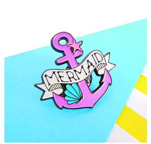 Load image into Gallery viewer, MERMAID PIN BADGE