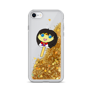 Mars Bubblegum Pop Liquid Glitter Phone Case