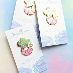"Musical Mermaid - 1.25"" Hard Enamel Pin"
