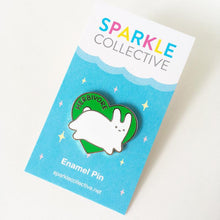 Load image into Gallery viewer, HERBIVORE BUNNY ENAMEL PIN