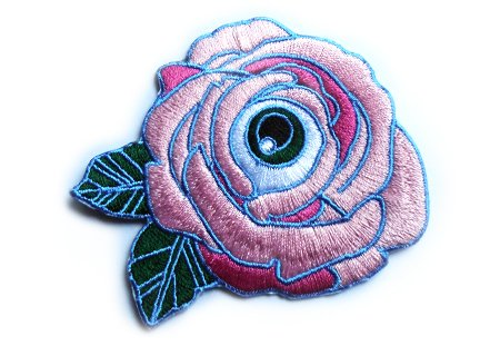 :PINK: FLOWER OF MY EYE IRON-ON PATCH