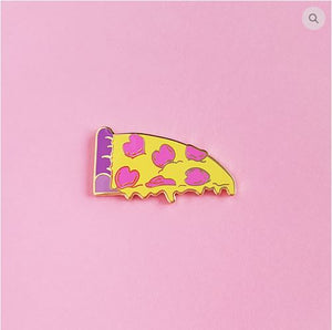 Pastel ♥ Pizza Lapel Pin