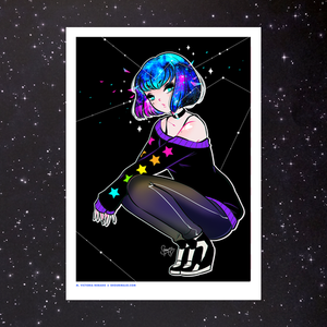 SPACE HEAD ART PRINT (SIGNED)