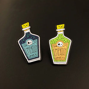 Empathy Poison Bottle Pin