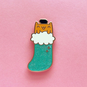 BAD KITTENS •  2 INCH GIANT GLITTER LAPEL PIN •