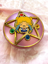 Load image into Gallery viewer, Crying Usagi Pin - Super Emo Friends Collab