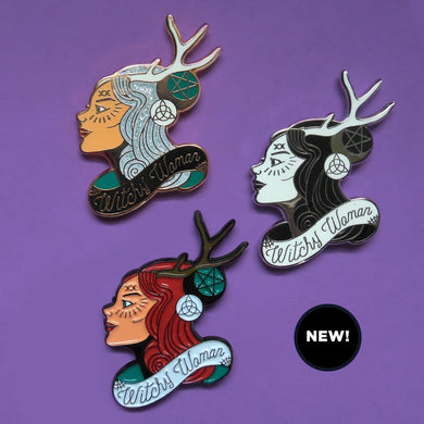 Witchy Woman Enamel Pins