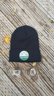 Get Outside Cuffed Beanie with Color Logo