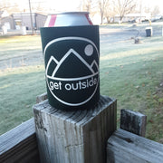 Get Outside Logo Koozies