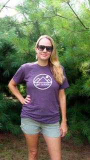 Unisex Get Outside Logo Super Soft Tee-Vintage Purple